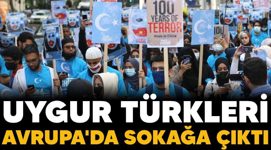 Uygur Türkleri Avrupa'da sokağa çıktı